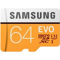 Samsung EVO microSDXC de 64 Go de classe 10 + adaptateur