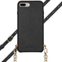 Selencia Coque Aina Serpent avec corde iPhone 8 Plus / 7 Plus - Noir