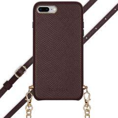 Selencia Coque Serpent avec corde iPhone 8 Plus / 7 Plus - Rouge