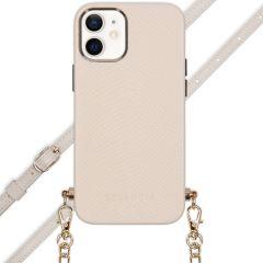 Selencia Coque Aina Serpent avec corde iPhone 12 Mini - Blanc