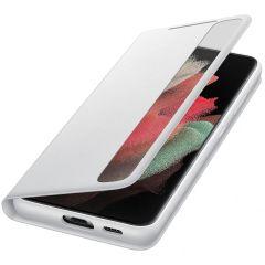 Samsung Étui de téléphone portefeuille Clear View Galaxy S21 Ultra
