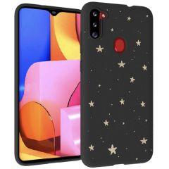 iMoshion Coque Design Galaxy M11 / A11 - Etoiles - Dorée / Noir