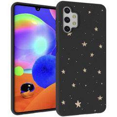 iMoshion Coque Design Galaxy A32 (5G) - Etoiles - Dorée / Noir