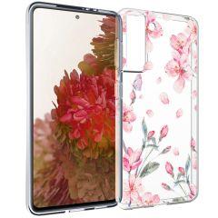 iMoshion Coque Design Samsung Galaxy S21 - Fleur - Rose