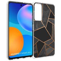 iMoshion Coque Design Huawei P Smart (2021) - Cuive graphique - Noir