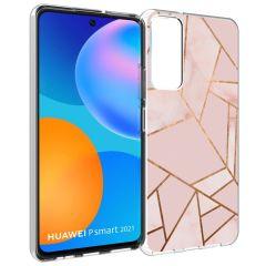iMoshion Coque Design Huawei P Smart (2021) - Cuive graphique - Rose