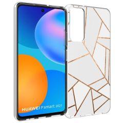 iMoshion Coque Design Huawei P Smart (2021) - Cuive graphique - Blanc