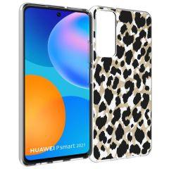 iMoshion Coque Design Huawei P Smart (2021) - Léopard - Dorée / Noir