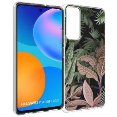 iMoshion Coque Design Huawei P Smart (2021) - Jungle - Vert / Rose
