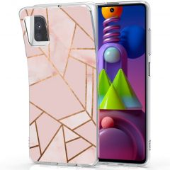 iMoshion Coque Design Galaxy M51 - Cuive graphique - Rose / Dorée