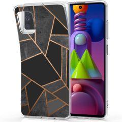 iMoshion Coque Design Galaxy M51 - Cuive graphique - Noir / Dorée