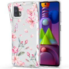 iMoshion Coque Design Samsung Galaxy M51 - Fleur - Rose