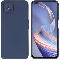 iMoshion Coque Color Oppo Reno4 Z 5G - Bleu foncé