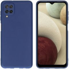 iMoshion Coque Color Samsung Galaxy A12 - Bleu foncé