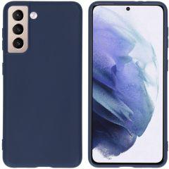 iMoshion Coque Color Samsung Galaxy S21 - Bleu foncé