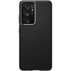 Spigen Coque Liquid Air Samsung Galaxy S21 Ultra - Noir