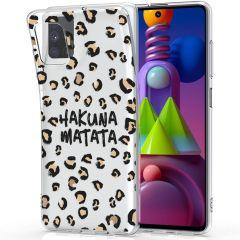 iMoshion Coque Design Samsung Galaxy M51 - Léopard - Brun / Noir