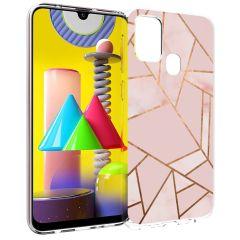 iMoshion Coque Design Galaxy M31 - Cuive graphique - Rose / Dorée