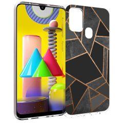 iMoshion Coque Design Galaxy M31 - Cuive graphique - Noir / Dorée