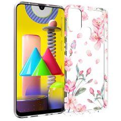 iMoshion Coque Design Samsung Galaxy M31 - Fleur - Rose