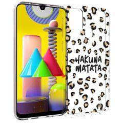 iMoshion Coque Design Samsung Galaxy M31 - Léopard - Brun / Noir