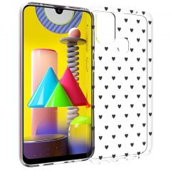 iMoshion Coque Design Samsung Galaxy M31 - Cœurs - Noir