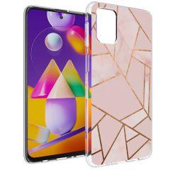 iMoshion Coque Design Galaxy M31s - Cuive graphique - Rose / Dorée
