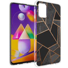 iMoshion Coque Design Galaxy M31s - Cuive graphique - Noir / Dorée