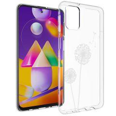 iMoshion Coque Design Samsung Galaxy M31s - Pissenlit - Blanc