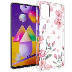 iMoshion Coque Design Samsung Galaxy M31s - Fleur - Rose