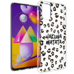 iMoshion Coque Design Samsung Galaxy M31s - Léopard - Brun / Noir