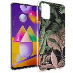 iMoshion Coque Design Samsung Galaxy M31s - Jungle - Vert / Rose