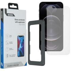 Accezz Protection d'écran Glass + Applicateur iPhone 12 Pro Max