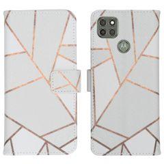 iMoshion Coque silicone design Motorola Moto G9 Power - White Graphic