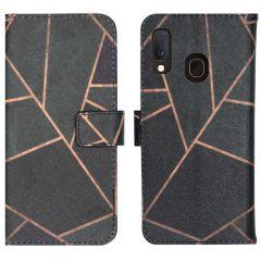 iMoshion Coque silicone design Samsung Galaxy A20e - Black Graphic