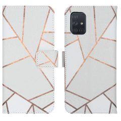 iMoshion Coque silicone design Samsung Galaxy A71 - White Graphic