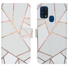 iMoshion Coque silicone design Samsung Galaxy M31 - White Graphic