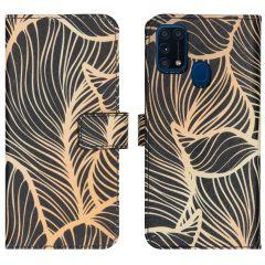 iMoshion Coque silicone design Samsung Galaxy M31 - Golden Leaves