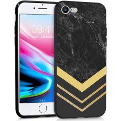 iMoshion Coque Design iPhone SE (2020) / 8 / 7 - Marbre - Dorée