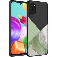 iMoshion Coque Design Samsung Galaxy A41 - Marbre - Vert / Noir