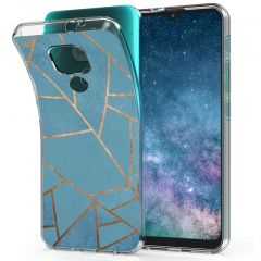 iMoshion Coque Design Motorola Moto E7 Plus / G9 Play - Blue Graphic