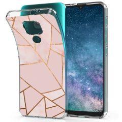 iMoshion Coque Design Motorola Moto E7 Plus / G9 Play - Pink Graphic