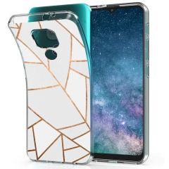 iMoshion Coque Design Motorola Moto E7 Plus / G9 Play - White Graphic