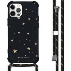 iMoshion Coque Design avec cordon iPhone 12 Pro Max - Etoiles - Noir