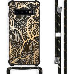 iMoshion Coque Design avec cordon Samsung Galaxy S10 Plus - Feuilles