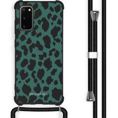 iMoshion Coque Design avec cordon Samsung Galaxy S20 - Léopard - Vert