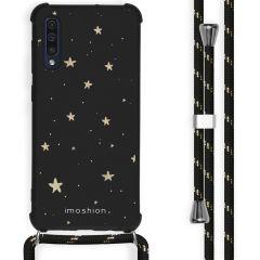 iMoshion Coque Design avec cordon Samsung Galaxy A50 - Etoiles - Noir