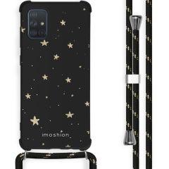 iMoshion Coque Design avec cordon Samsung Galaxy A71 - Etoiles - Noir