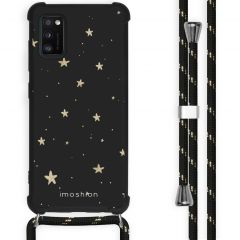 iMoshion Coque Design avec cordon Samsung Galaxy A41 - Etoiles - Noir
