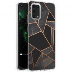 iMoshion Coque Design Galaxy A02s - Cuive graphique - Noir / Dorée
